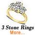 three stone preset ring